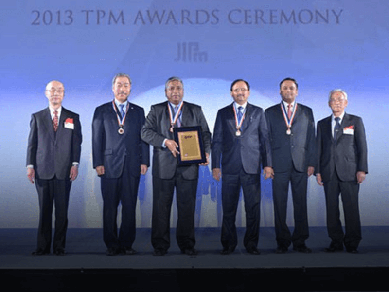 Award for Excellence in Consistent TPM Commitment